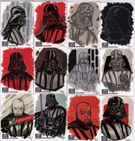 STAR WARS Sketchcards - Darth Vader by DenisM79