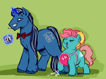 Mommy Bonheur and Prince Bluedream by cihiiro