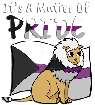 Demisexual Pride Lion- With Text by marzipan-pond