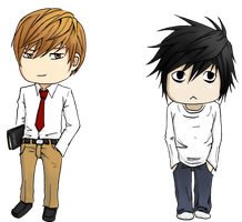 DeathNoteChibis for hedspace77 by iyka