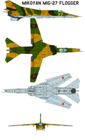 Mikoyan MiG-27 Flogger by bagera3005