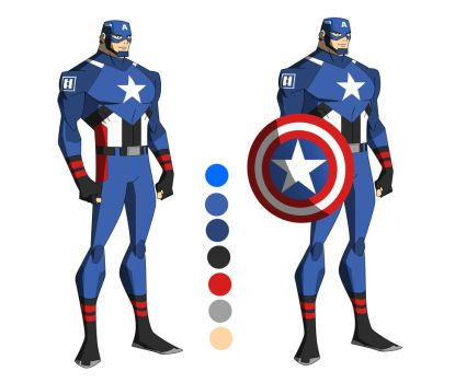 The Marvel Project #1 Steve Rogers/Captain America by huatist