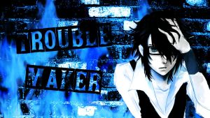 Project K//Fushimi Saruhiko TroubleMaker Wallpaper by Syaoran-SuzakuLuver