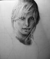 Charlize Theron WIP 3 by Blacleria