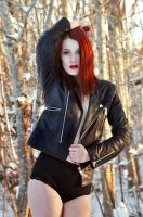 Top Model - Black Leather by aggestardust