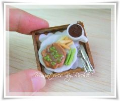 Pepper Steak Pendant by ToothFairyMiniatures