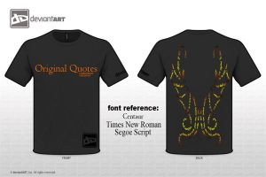 T-shirt wings typography design by denpoy25