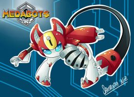 Peppercat _ medabots by keitenstudio