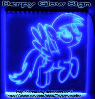 Derpy Glow Sign by AnimeAmy