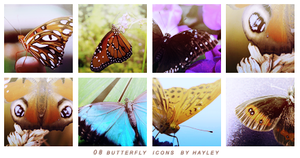 08 Butterfly icons by HayleyGuinevere