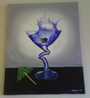 Splash of Blue by cokeglass