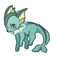 Vaporeon Doodle by Magicpawed