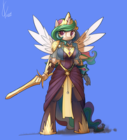 Anthro Celestia by Dreatos