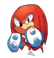 knuckles the Echidna by Omiza
