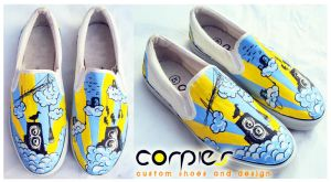 little bird on music shoes by JONY-CAKEP