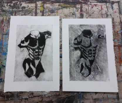 Figure Drawing Collagraph Prints by jmnettlesjr