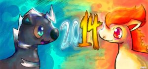Happy New Year 2014! by Chibixi
