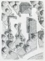 The Ruins near Cragford [pencil] by SirInkman