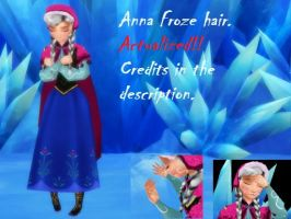 (MMD) Anna Frozen Heart.(AND OTHER with ONLY HAIR) by MIKUMIKUDANCE-MODELS