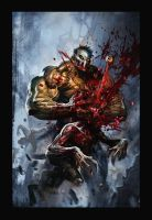 SplatterHouse Fangoria Cover by Dave-Wilkins