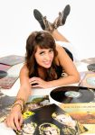 Sophia With Vinyl 4 by JamesBrey
