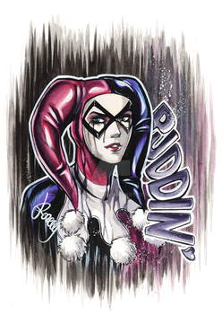 Commission- Classic Harley Quinn by Darboe
