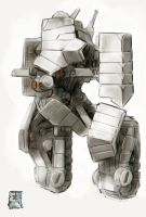 Paper for iPad - Bipedal Tank Mech by Legato895