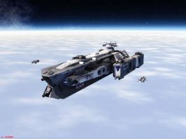 Victorious Class Heavy Cruiser by ILJackson