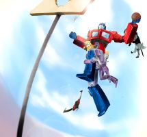 basketball of Optimus Prime by osis1231