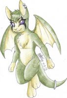 COMMISSION: Minty Cream Nimbat by TheHuntingWolf