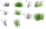 GIMP Grass Brushes by Blueroses321