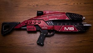 Mass Effect M-8 Assault Rifle in Red by VariaK