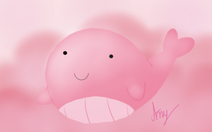 Tiny Floating Baby Whale by AmyPinkerson