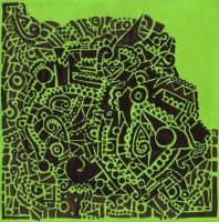 Untitled: Doodle on Green by the-green-beanie