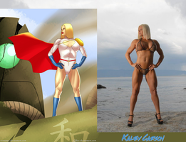 Kaley Carson Is Triumphant Power Girl By Ulics by zenx007