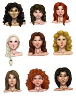 women of westeros by kaleadora