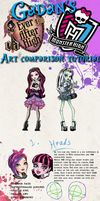 Ever After High, Monster High Art Comparison Tut by Gadan-Yuumei