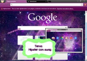 Tema google chrome: Hipster con Swag by Jazminswag-Editions