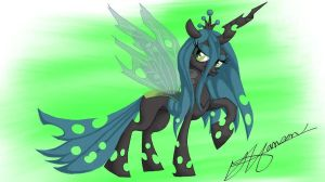 Queen Chrysalis by Music-S-Brush