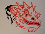 Smaug on a white board by Dragonnerd906