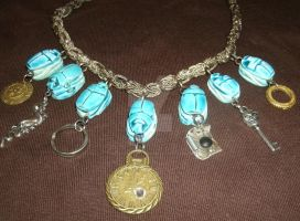 """Egyptian Queen"" Steampunk Necklace with by SacredJourneyDesigns"