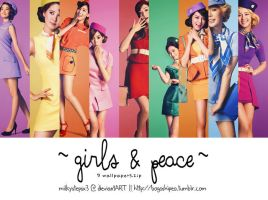 Girls' Generation: Girls and Peace Wallpaper Set by milkystepsx3