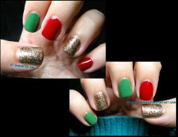 Christmas 2012: Red, Green and Gold by Cowboy-Slightly