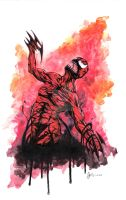 Carnage Watercolor by kentarcher
