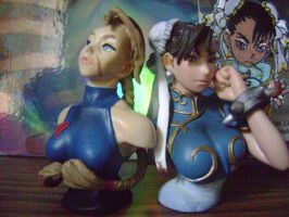Chun n' Cam Busts by TheToonDevil