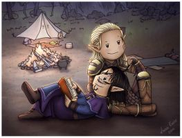 Venteras and Zevran by Isriana