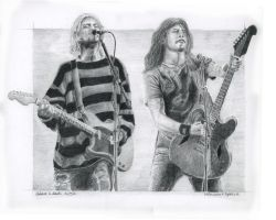 Cobain and Grohl by leohernan