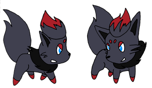 Zorua's about to fight by Zorokra