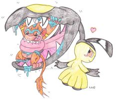 Monferno Vore Part 1 Mawile Used Swallow