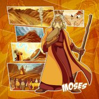 Bible Super Heroes: Moses 2 by eikonik